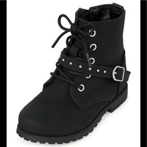 Children's Place Toddler Girls Strap Lace Up Boots